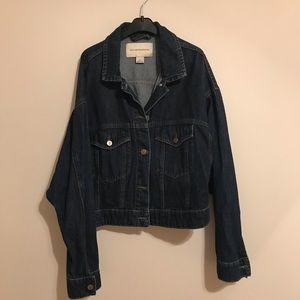 Anthropologie denim cropped jean jacket